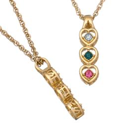 Sisters Birthstone Hearts Pendant