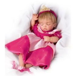 Lifelike Moving Baby Doll Wearing Disney Princess Character Dress