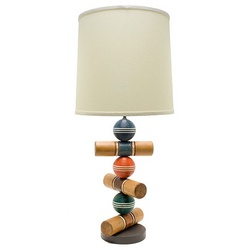 Croquet Mallet and Balls Lamp