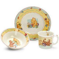Winnie the Pooh Bowl, Plate and Double-Handled Mug Set
