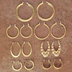 7-Pair Hoop Earring Set