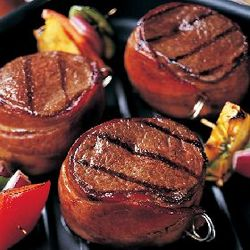 Six 5 oz. Bacon-Wrapped Top Sirloin Steaks