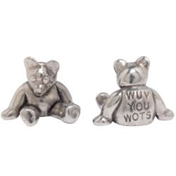 Wuv You Wots Hand-Crafted Pewter Bear