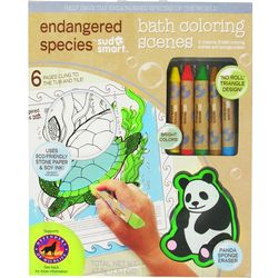 Endangered Species Bath Coloring Scenes Set