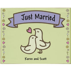 Just Married Personalized Wall Art