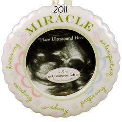 """Miracle"" Ultrasound Photo Ornament"
