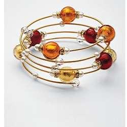 Murano Glass Bead Bracelet