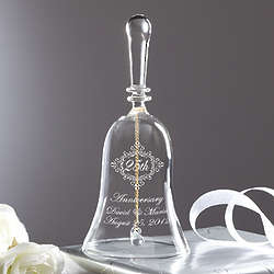 Personalized Crystal Anniversary Bell