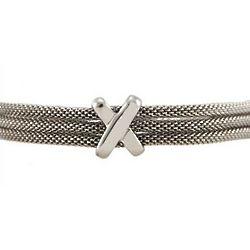 Designer Inspired Three Strand Mesh Bracelet