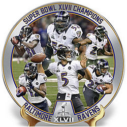Baltimore Ravens Super Bowl Champions Collector Plate
