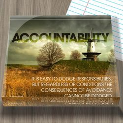Accountability Windmill Infinity Edge Acrylic Paperweight