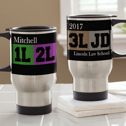 Law Student's Personalized Travel Mug