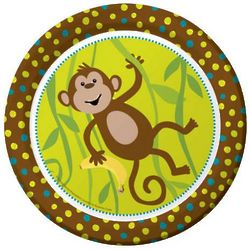 "Monkeyin' Around 8.75"" Paper Dinner Plates"