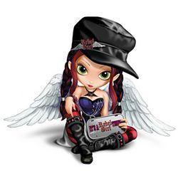 It's a Rebel Girl Thing Biker Fairy Figurine