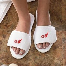 Monogram Velour Spa Slippers