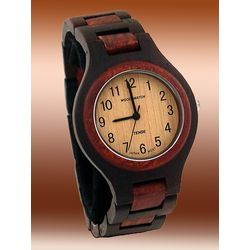 Men's Ebony-Rose Wooden Watch