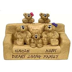 Parents Grandkids Bears in Loveseat