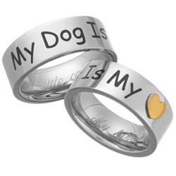 'My Dog Is My Heart' Stainless Steel Engraved Pet Ring