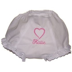 Personalized Valentine Heart Girl's Bloomers