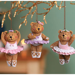 Ballerina Bear Ornaments