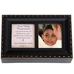 Personalized Confirmation Black Music Box