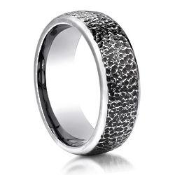 Men's Hammer Finished Cobalt Chrome Ring
