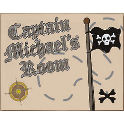Personalized Pirate Wall Canvas