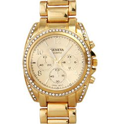 Designer Inspired Goldtone Boyfriend Watch