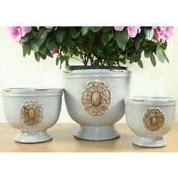 Medallion Plant Pot Set