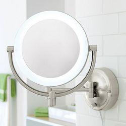 Natural-Light Wall Makeup Mirror