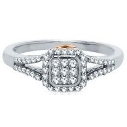 I Am Loved Diamond Ring in Sterling Silver and 14 Karat Gold