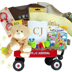 Thank Heaven for Little Babies Radio Flyer Wagon Gift Set