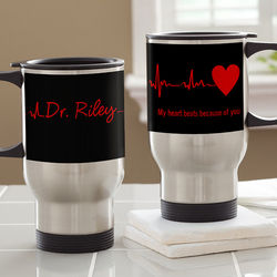 Heart of Caring Personalized Travel Mug