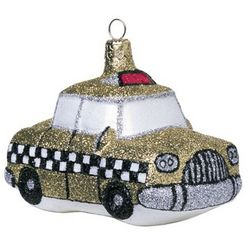 New York Taxi Cab Christmas Ornament