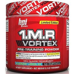 1.M.R Vortex Limited Edition Pre-Workout Powder Blue
