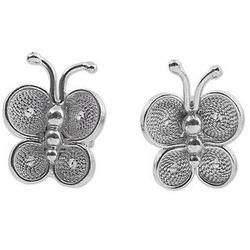 Bright Baby Butterfly Sterling Silver Filigree Earrings