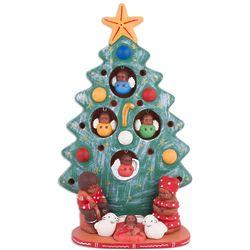 Birth Beneath the Green Tree Ceramic Nativity Scene