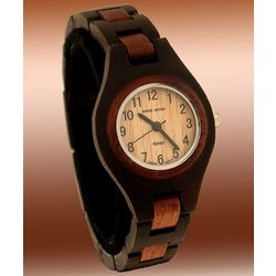 Ladies Ebony-Rose Wooden Watch
