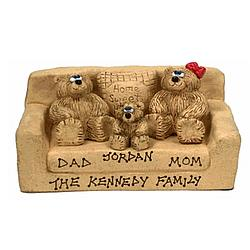 Personalized Daddy, Mommy and Kids Bears in a Chair