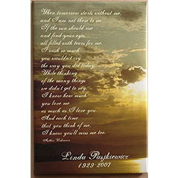Personalized Sunset Memorial Canvas