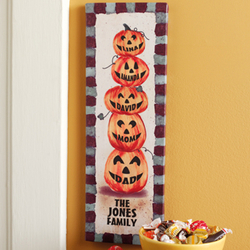 Personalized Halloween Pumpkin 6x18 Canvas