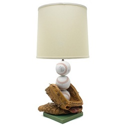 Baseball Gloves and Softballs Lamp