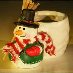 Ceramic Snowman Pot