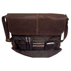 Vintage Leather Messenger Bag