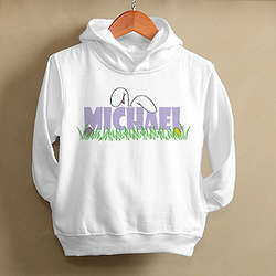 Personalized Toddler's Bunny Ears Easter Sweatshirt