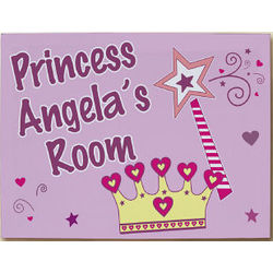 Personalized Princess Wall Canvas Art