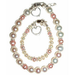Mommy & Me Pink And Pearl Jewerly Set