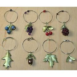 Wine Glass Fruit Charms