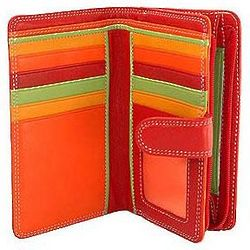 Medium Red Vertical Bifold Wallet
