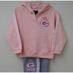 Packers Girls Pink Hoodie and Pants Set